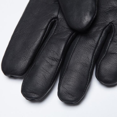 Men's Women's Genuine Leather Wool Lined Gloves