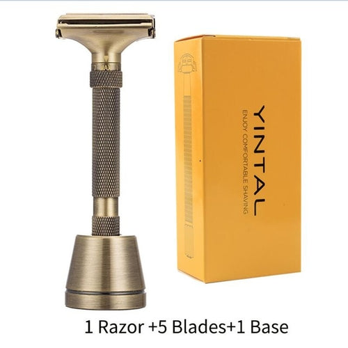 Men's Double Edge Barber Safety Razor Manual Shaver