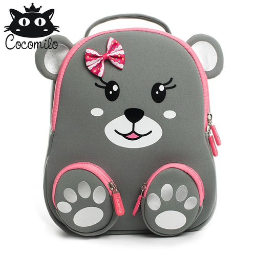 Toddler Girls' Lightweight 3D Animal Printed Backpack with Anti Lost Walker Strap