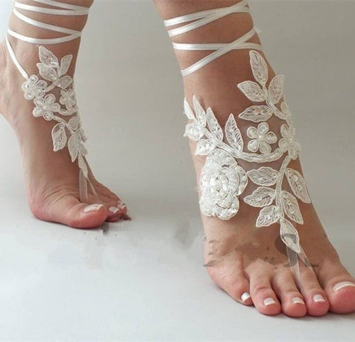 Jewelry Lace Beach Bind-Anklets Barefoot Sandals