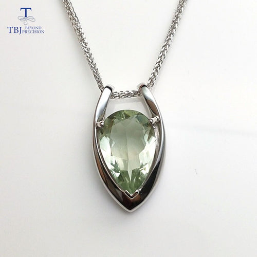Women's 925 Sterling Silver Natural Amethyst Gemstone Chain Pendant Necklace
