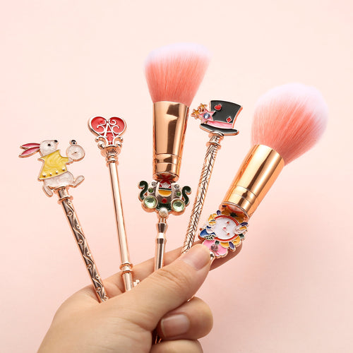 Makeup Brushes Set for Eyeshadow Eyebrow Blush Contour Brushes in Alice in Wonderland Style
