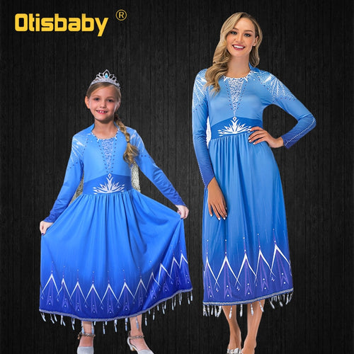 Mother Daughter Matching Elsa Costume
