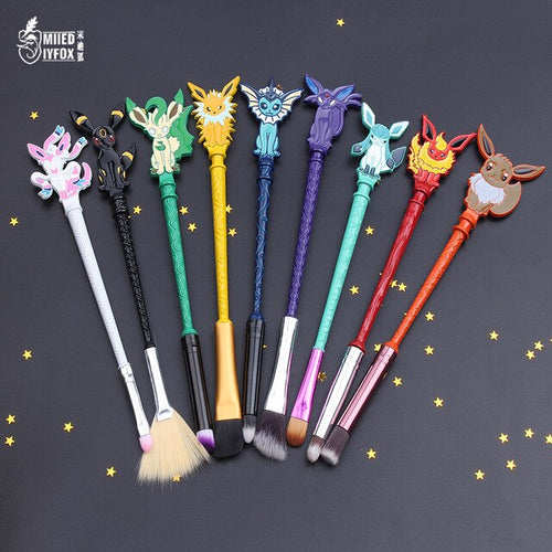 Makeup Brushes Set for Eyeshadow Concealer Lip with Pokemon Design