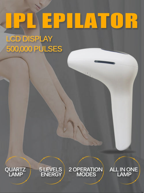FSZ Permanent Laser Hair Removal Tool with 500000 Flashes and LCD Display