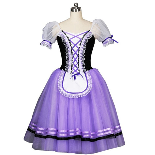 Women's Girls' Giselle Ballet Costume Ballerina Stage Dance Performance Tutu Dress