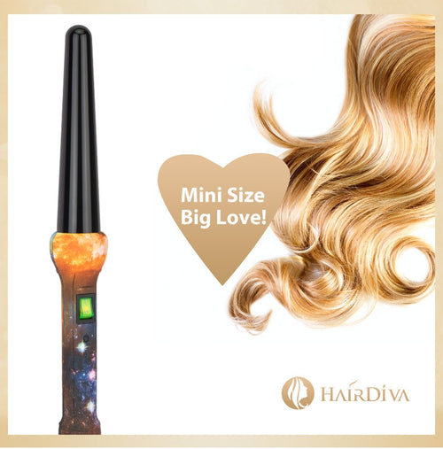 HairDiva Professional Ceramic Tapered Curling Wand