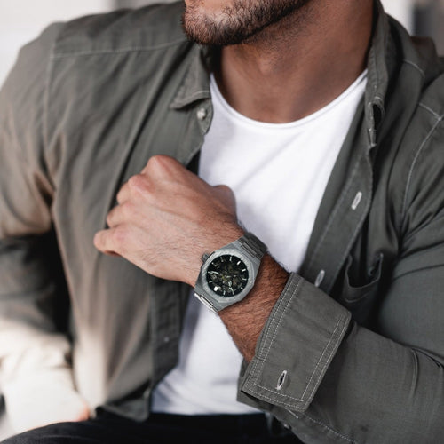 T-Winner Automatic Mechanical Skull Watches for Men