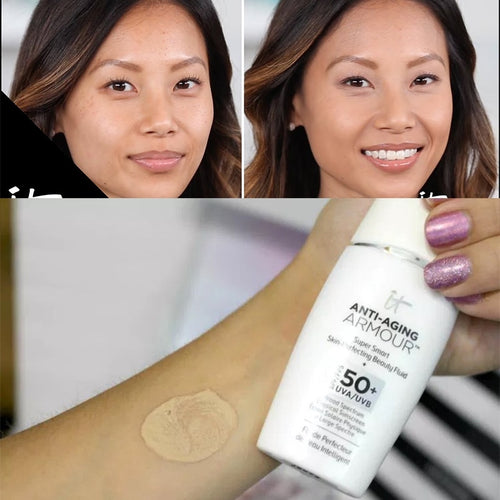 It Cosmetics Anti-Aging Armour Tinted Sunscreen SPF 50+ Super Smart Skin Perfecting Cream