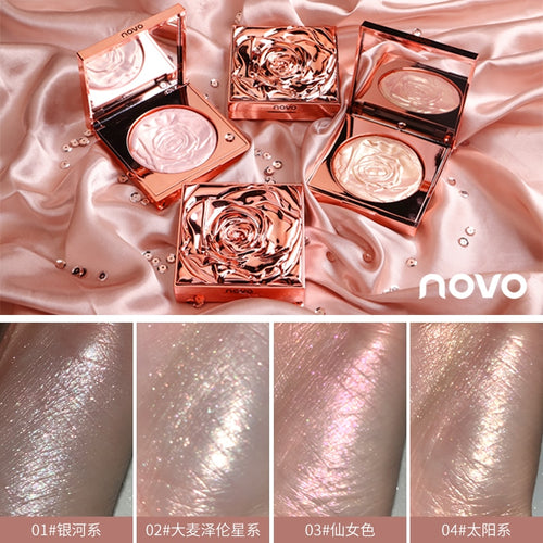 Diamond Drill Waterproof Rose Shimmer Highlighter for Face and Body