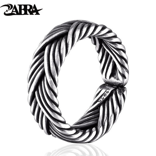 Zabra 925 Sterling Silver Adjustable Ring