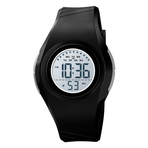 Boys' Girls' 50M Waterproof Round Digital Watch with LED Display