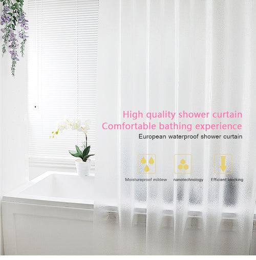 Waterproof Plastic Frosted Translucent Shower Curtain