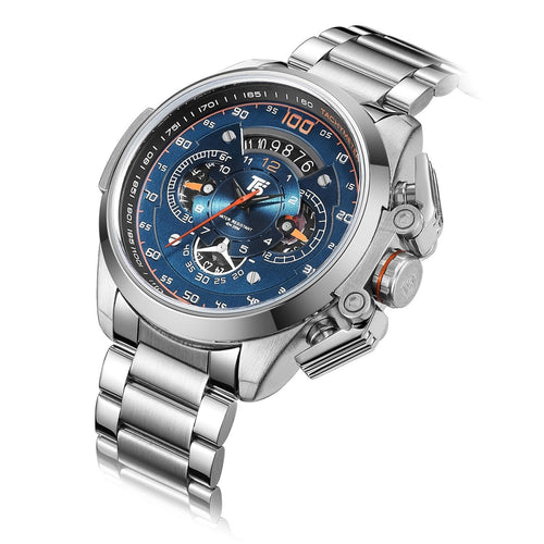 Men's Stainless Steel 3 ATM Waterproof Chronograph Quartz Sport Watch