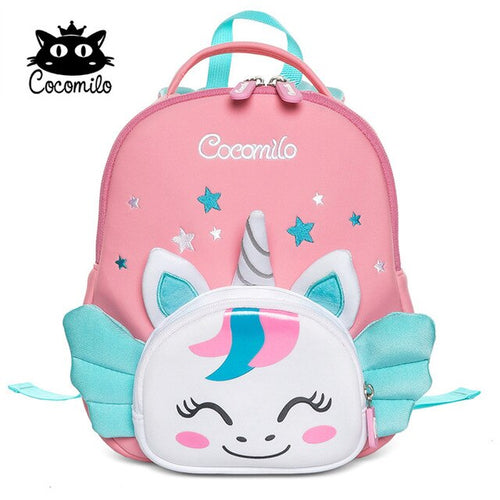 Girls' Lightweight 3D Unicorn Printed Waterproof Backpack with Anti Lost Walker Strap