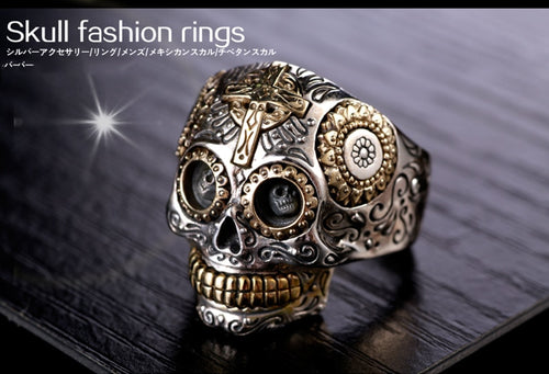 Zabra Solid 925 Sterling Silver Skull Ring for Men and Women