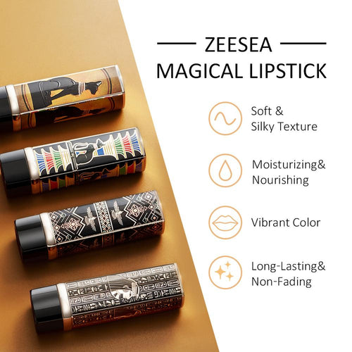 Zeesea Egypt Collection Waterproof Long Wear Velvet Shimmer and Matte Moisture Lipstick