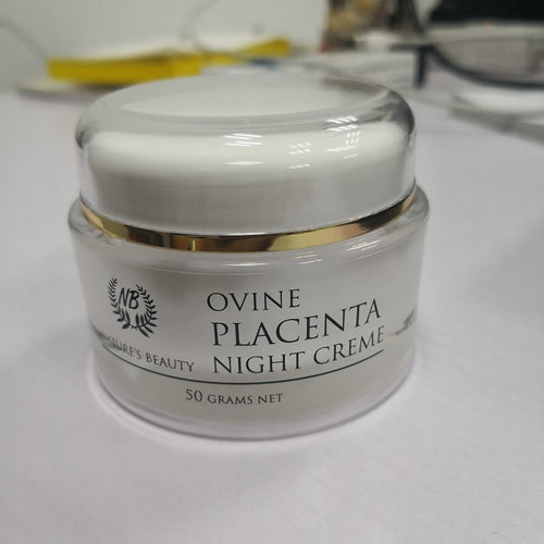 Ovine Nature's Beauty Placenta Night Cream with Shea Butter, Aloe, Vitamin E, and Botanicals