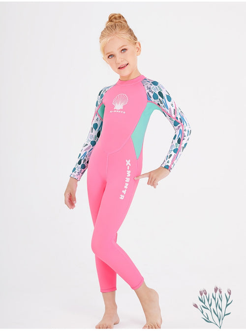 Girls' Long Sleeve Neoprene Swim Wetsuit Diving Suit Swimsuit