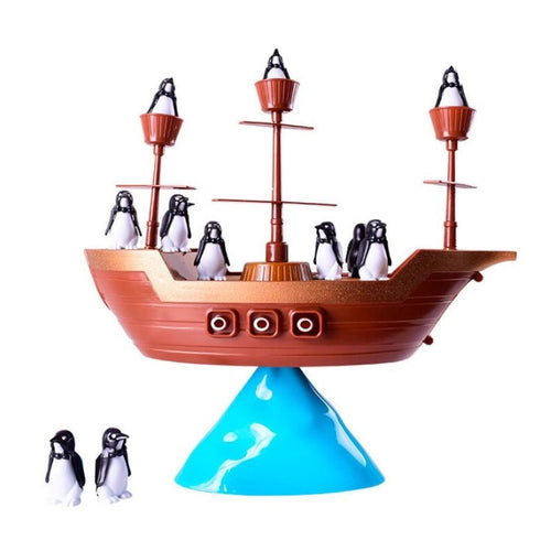 Children's Pirate Ship Penguin Balance Interactive Board Game