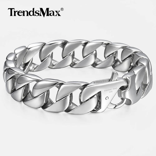 Men's Stainless Steel Curb Link Chain Bracelet
