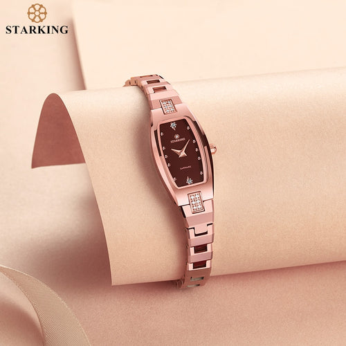Women's 3 ATM Water Resistant Tungsten Steel Rectangle Quartz Watch