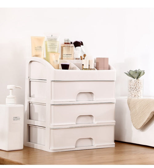 Plastic Cosmetic and Makeup Organizer Drawers