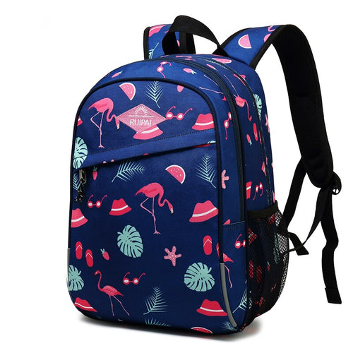 Girls' Boys' High Capacity Waterproof Printed School Backpack
