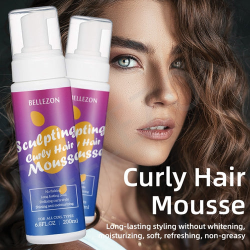Anti-Frizz Hair Foam Mousse Styling Product for Curly Hair