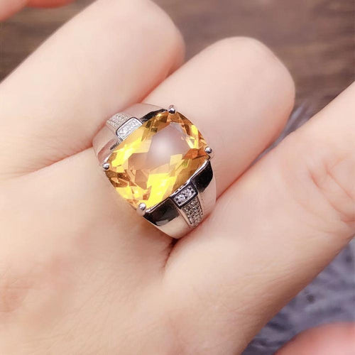 Citrine Women's Ring with Gem