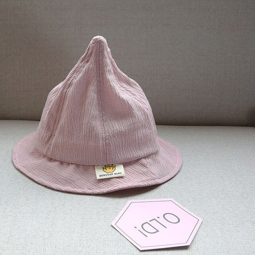 Girls' Boys' Baby Sun Hat Cone Shaped Cotton Bucket Cap