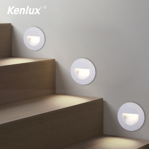 Kenlux LED Waterproof Outdoor Recessed Round Step Lighting