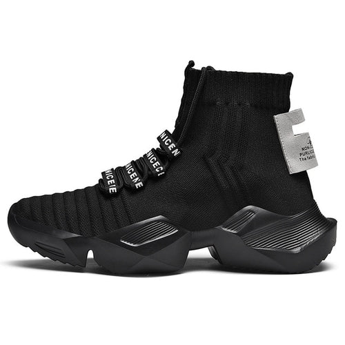 Men's Breathable Outdoor Lace Up Sock Sneakers