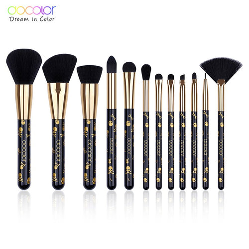 Docolor 12pcs Makeup Brushes Set for Eye Shadow Foundation Powder Blush