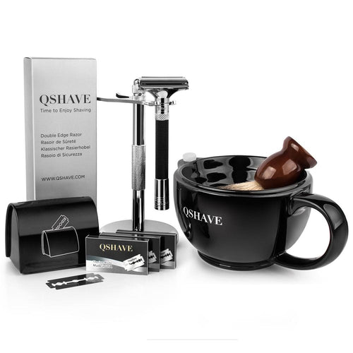 Men's 6 Piece Barber Razor Shaving Kit Set