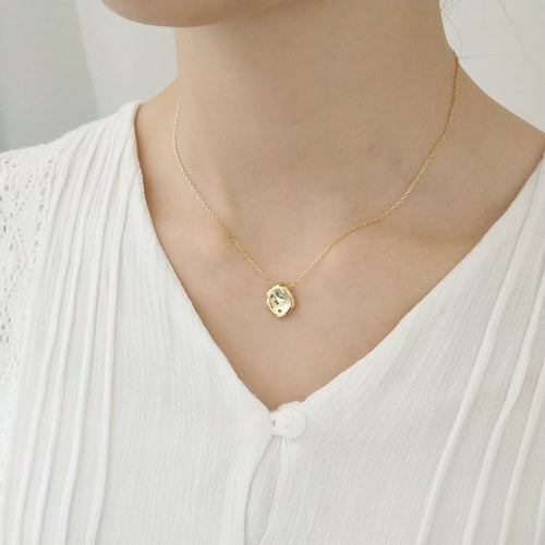 Women's 925 Sterling Silver / 18K Gold Pendant Necklace