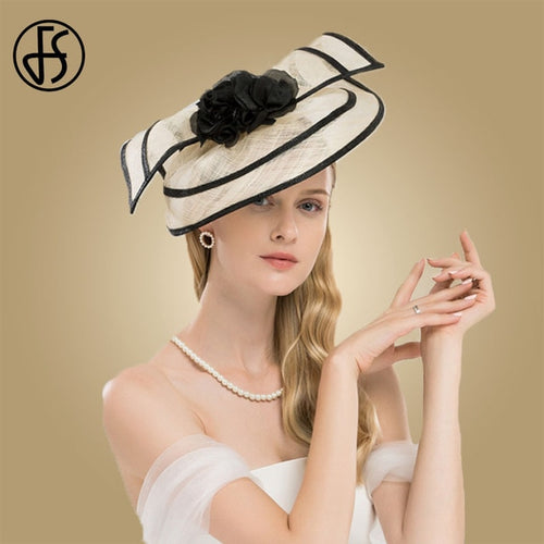 Women's Pillbox Fascinator Sinamay Hat Formal Headpiece with Bow Knot Decoration