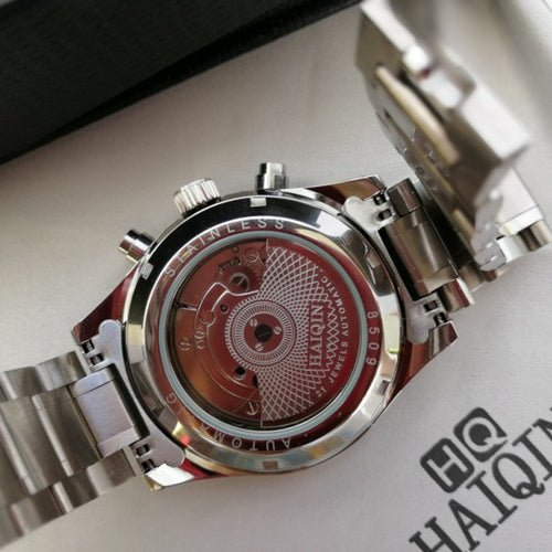 Men's Stainless Steel 3 ATM Waterproof Hardlex Mechanical Automatic Watch