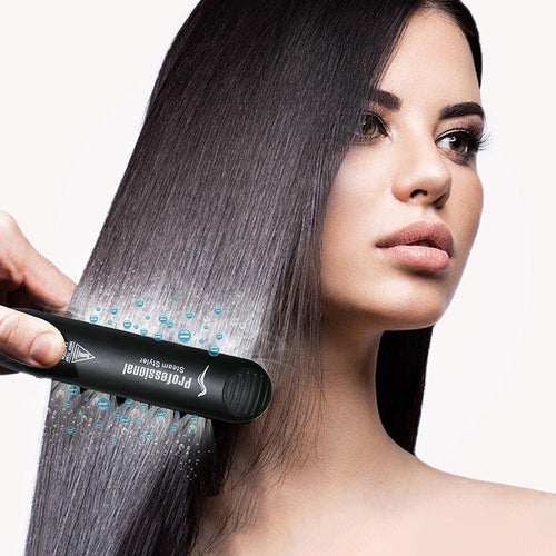 Professional Steam Ceramic Hair Straightening Iron and Curler