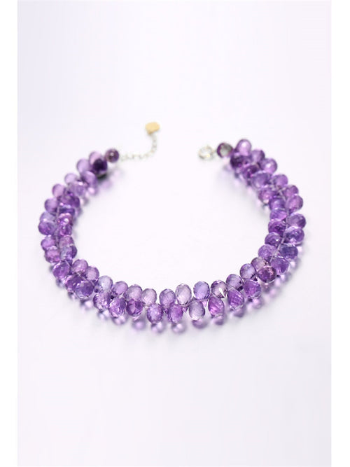 Women's 18K Yellow Gold Amethyst Bracelet