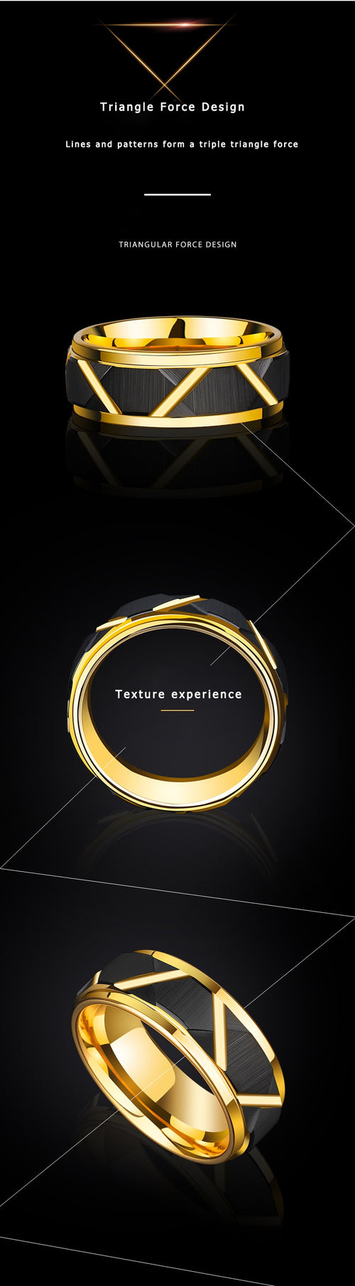 Tungsten Carbide 8mm Width Men Ring