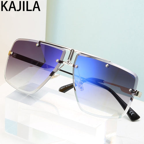 Men's Rimless Pilot Sunglasses UV400 Suitable for Driving