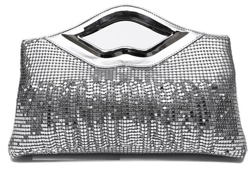 Women's Sequined Evening Clutch Purse Handbag