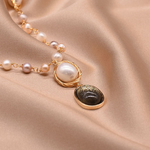 Women's 925 Sterling Silver Freshwater Pearl Pendant Necklace