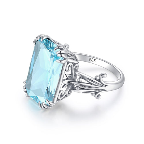 Szjinao 925 Sterling Gemstone Silver Ring