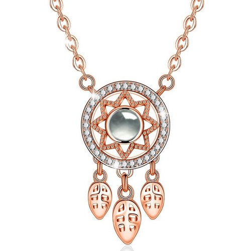Women's Girls' 925 Sterling Silver Dream Catcher Pendant Necklace