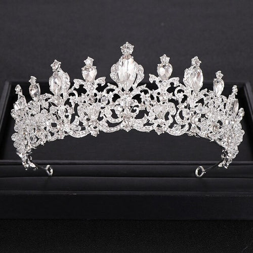 Women's Bridal Hair Accessory Rhinestone Crystal Tiara
