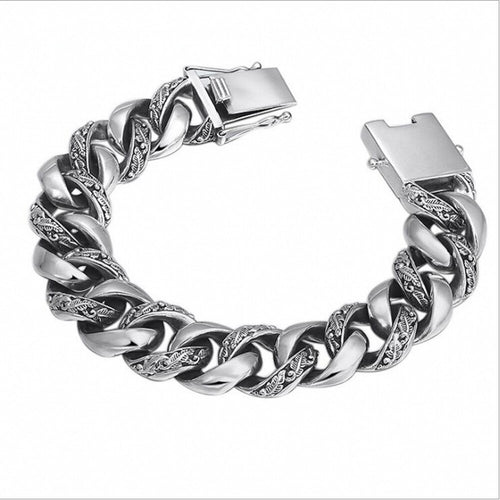 Men's 925 Sterling Silver Chain Bracelet
