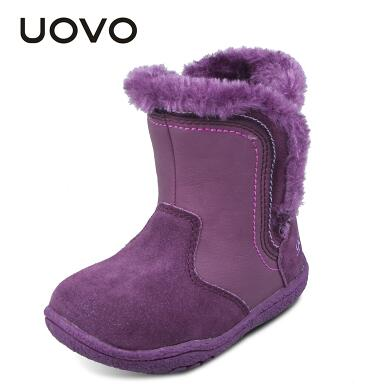 Girls' Genuine Suede Leather Winter Shoes Ankle Boots
