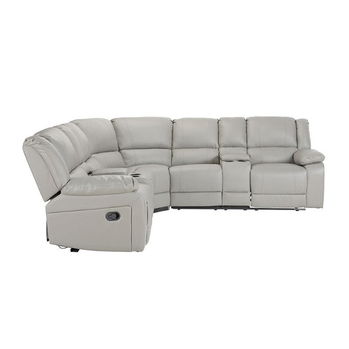 Symmetrical Reclining Sectional Sofa Set with Manual Switch